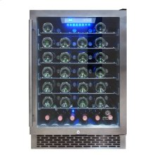 EL-54WCGM-WR Smoked Black Stainless Steel Wine Cooler - Scratch n Dent