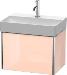 Vanity Unit Wall-mounted Compact, Apricot Pearl High Gloss Lacquer