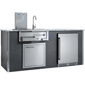 XO APPLIANCEAppliance Ready Pre-Assembled Entertaining Trio Island Gray