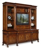 Large Breakfront Walnut TV Cabinet Product Image