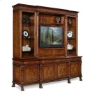 Large Breakfront Walnut TV Cabinet Product Image