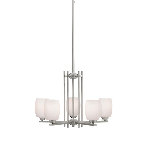 Eileen Collection Eileen 5 Light Chandelier - Brushed Nickel