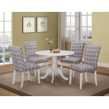 Dorsett Country Casual White Five-piece Dining Set