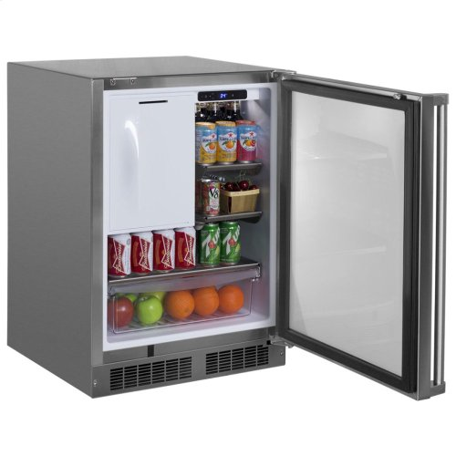 "24"" Outdoor Refrigerator/Freezer with Ice Maker Option - Right Hinge"