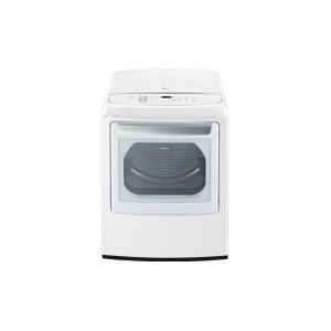 7.3 cu. ft. Large Smart wi-fi Enabled Front Control Gas Dryer with EasyLoad Door - WHITE