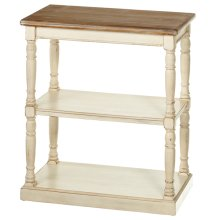 Two Toned Console Table with Shelves.