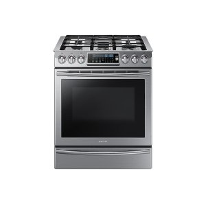 Samsung 鸭博娱乐s5.8 cu. ft. Slide-In Gas Range with True Convection in Stainless Steel