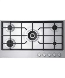 "NG Gas on Steel Cooktop 36"" 5 Burner"