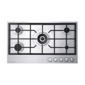 "Fisher & PaykelGas on Steel Cooktop 36"" 5 Burner (LPG)"