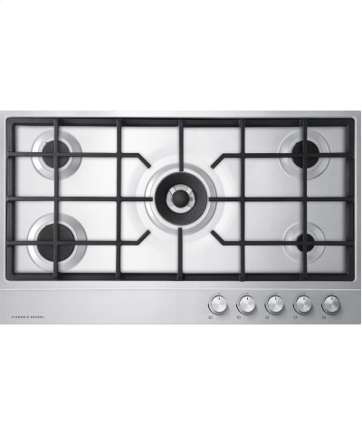 "Gas on Steel Cooktop 36"" 5 Burner (LPG) Product Image"
