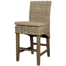 Chance Rattan Bar Stool, Kubu Gray