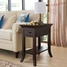 Traditional Cherry Tray Edge Chairside Table #10126