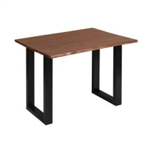 South Loop Dark Brown With Black Acacia Wood and Metal Desk
