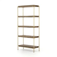 Aged Brass Finish Simien Bookshelf