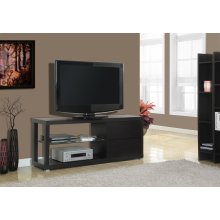 """TV STAND - 60""""L / CAPPUCCINO WITH TEMPERED GLASS"""