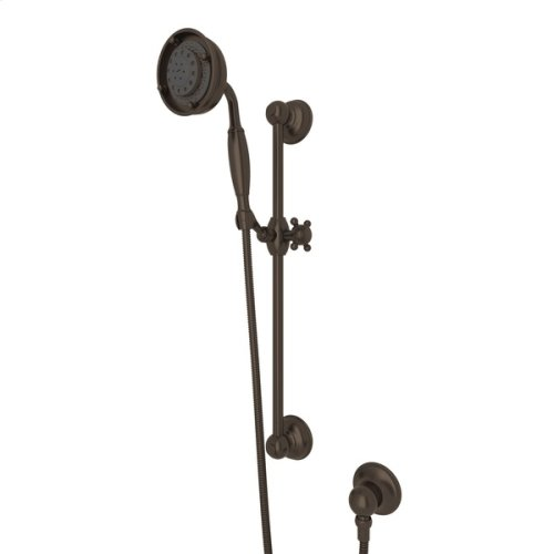 Tuscan Brass Multi-Function Classic Handshower/Hose/Bar/Outlet Set
