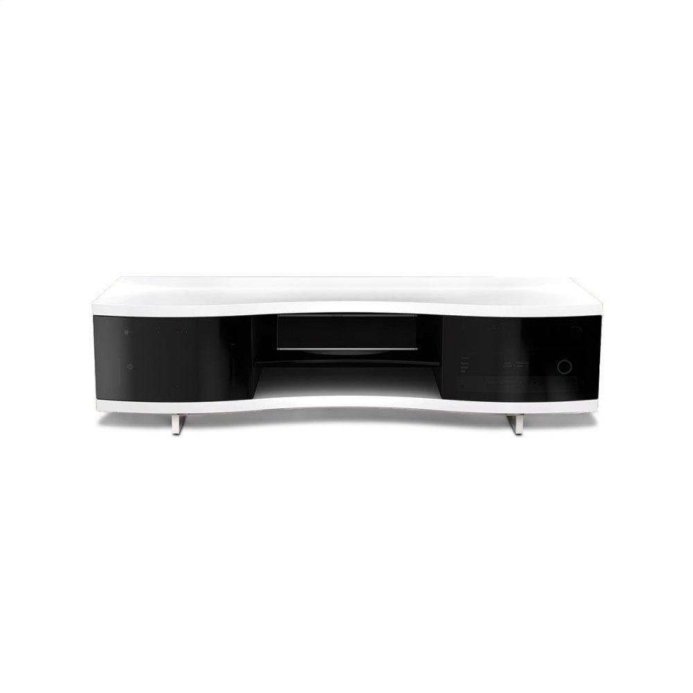 8137smoothsatinwhitebdi Furniture Triple Width Cabinet 8137 In