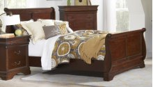 King Sleigh Complete Bed