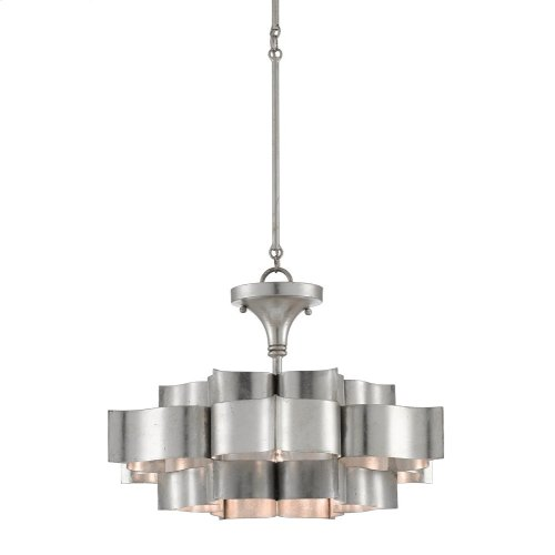 Grand Lotus Silver Small Chandelier