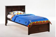 Butterscotch Bed in Dark Chocolate Finish - Twin