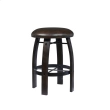 Whiskey Barrel Gathering Stool-Distressed Stout Finish