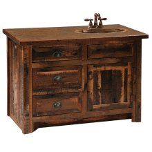 "Vanity - 42"" Without top, Sink Center"