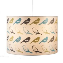 Bird Pattern Drum Pendant. 100W Max
