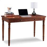 Farmhouse Oak Turned leg Laptop Desk with Center Drawer #82410 Product Image