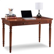 Farmhouse Oak Turned leg Laptop Desk with Center Drawer #82410 Product Image