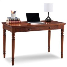 Farmhouse Oak Turned leg Laptop Desk with Center Drawer #82410