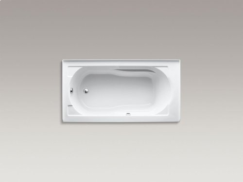 "White 60"" X 32"" Alcove Bath With Bask Heated Surface, Integral Apron and Left-hand Drain"