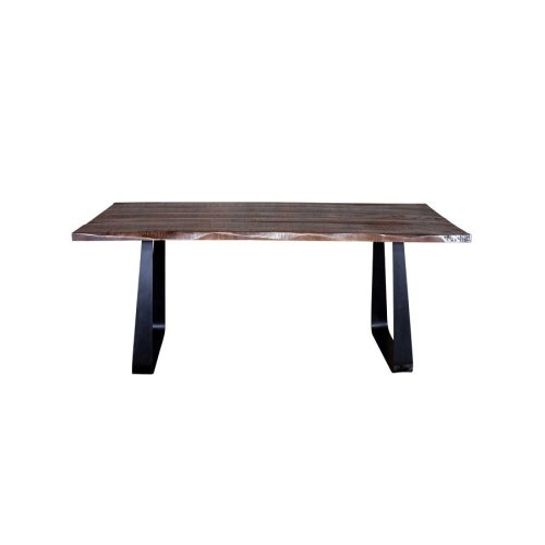 Crossover Espresso Dining Tables with different bases, SB-AUT-63E