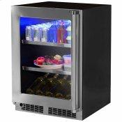 24-In Professional Built-In Beverage Center With Classic Hinge with Door Swing - Left