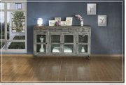 4 Drawer & 4 Glass Doors Console Product Image