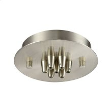 Pendant Options 7 Light Small Round Canopy in Satin Nickel