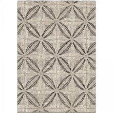 Daisy Contemporary 5x8 Area Rug in Grey/Cream