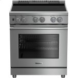 "Blomberg 30"" Pro induction stainless range with 5.7 cu ft self clean oven, 4 burner, track light"