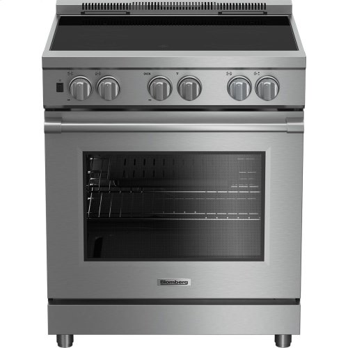 """30"""" Pro induction stainless range with 5.7 cu ft self clean oven, 4 burner, track light"""