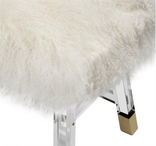 Reva Stool - Ivory Sheepskin