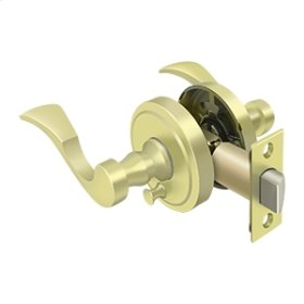 Lacovia Lever Privacy, Right Hand - Polished Brass