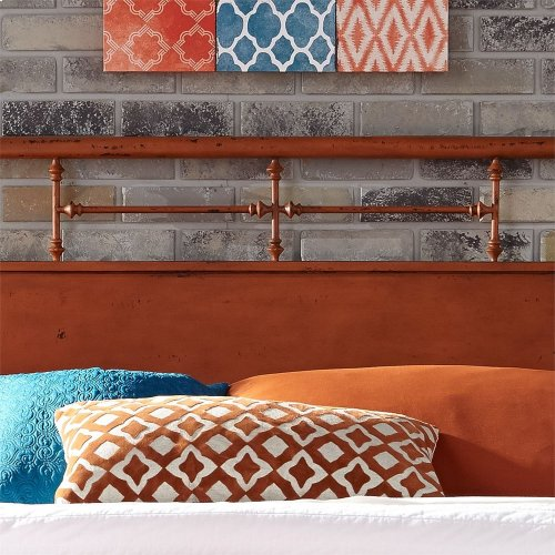King Metal Bed - Orange