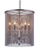 """1131 Brooklyn Collection Chandelier D:22"""" H:24.5"""" Lt:6 Dark Grey Finish (Royal Cut Crystals) Product Image"""