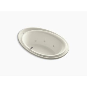 "Biscuit 72"" X 46"" Drop-in Whirlpool and Reversible Drain"