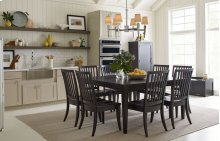 Everyday Dining by Rachael Ray Gathering Rect to Square Leg Table - Peppercorn