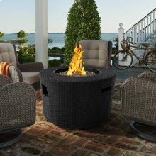 Moon Outdoor Patio Wicker Fire Pit