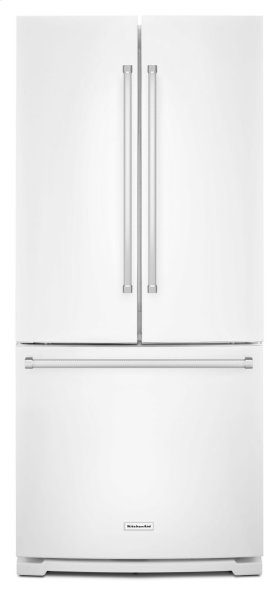 20 cu. Ft. 30-Inch Width Standard Depth French Door Refrigerator with Interior Dispense - White
