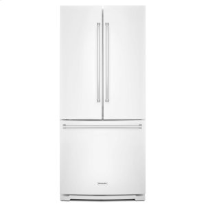 20 cu. Ft. 30-Inch Width Standard Depth French Door Refrigerator with Interior Dispense - White - WHITE