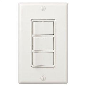 Multi-Function Control, Ivory, Three Switch Control With Four-Function Control, Heater/Fan/Light, Night-Light
