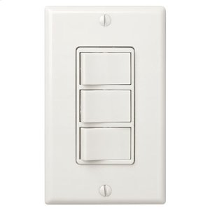 Multi-Function Control, Ivory, Three Switch Control With Four-Function Control, Heater/Fan/Light, Night-Light