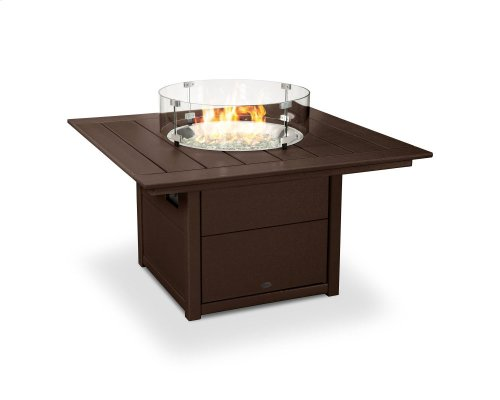 """Mahogany Square 42"""" Fire Pit Table"""